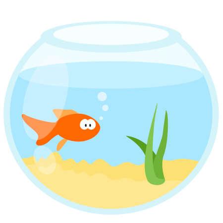 Icône web aquarium plat dessin animé Vecteurs