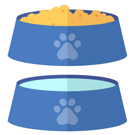 Flat cartoon pet bowl web icon Ilustrace