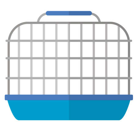 Flat cartoon hamster cage icon