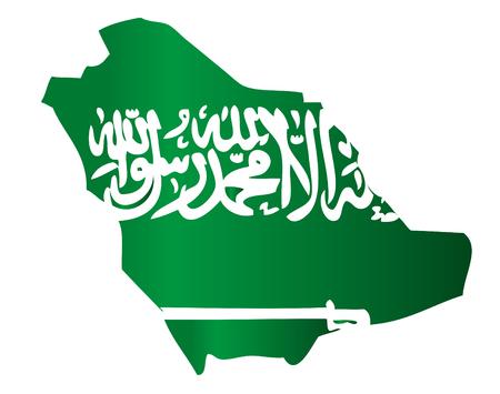 muhammed: Map shape Saudi Arabia flag Illustration