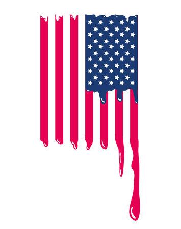 Amerikaanse Vlag van de VS druppelen