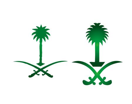 サウジアラビアの公式の記号  イラスト・ベクター素材