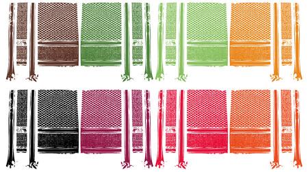 gekleurde shmagh Arabische sjaal patroon grungy effect