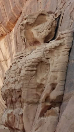 Natural formation on a mountain wall looks like Aliens