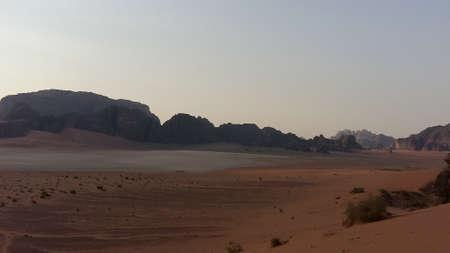 Wadi Rum flat landscape