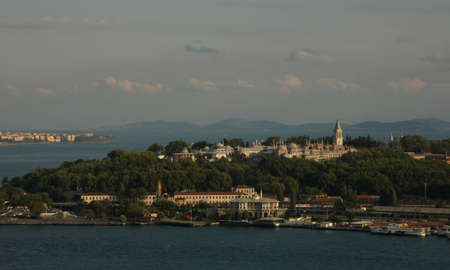 Topkapi Palace view from Galata tower in istanbul