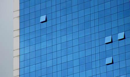 skyscraper and open windows                                 Stock Photo
