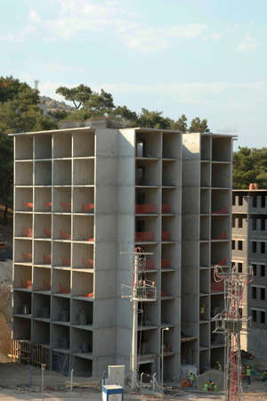 roofing membrane: blue sky, building construction