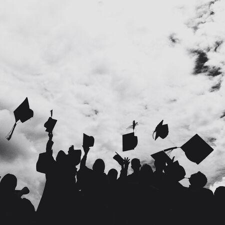 graduation sillhouette