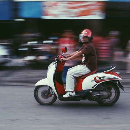 Motorcyclist at Thailand