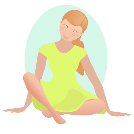 silence: Meditating girl in silence