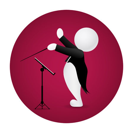 tailcoat: Conductor standing front music stand