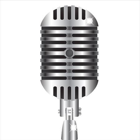 solo: Old style professional silver microphone