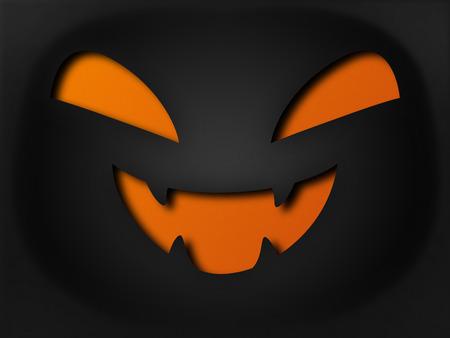 horrible: Paper style halloween horrible pumpkin face