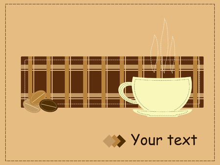 patchwork: Coffee style patchwork for invitation