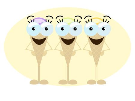 trio: Crazy ice cream trio