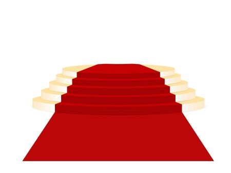 red and gold: Gold place of honour and red carpet