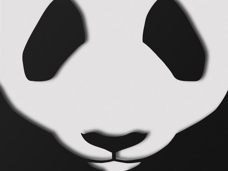 snout: Paper style panda snout