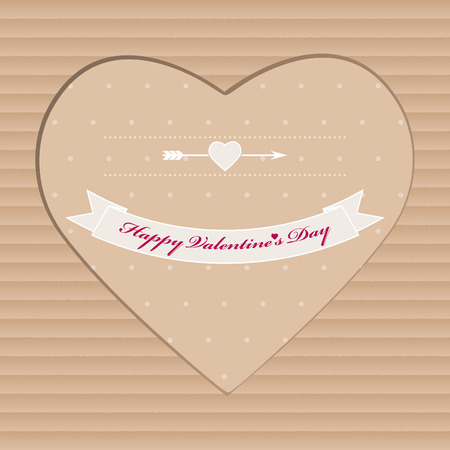 amorous: Handmade Valentine Day greeting card from cardboard for gift