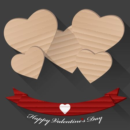 amor: Handmade Valentine Day greeting card from cardboard for gift