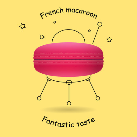 macaroon: Funny design with the classic pink French macaroon