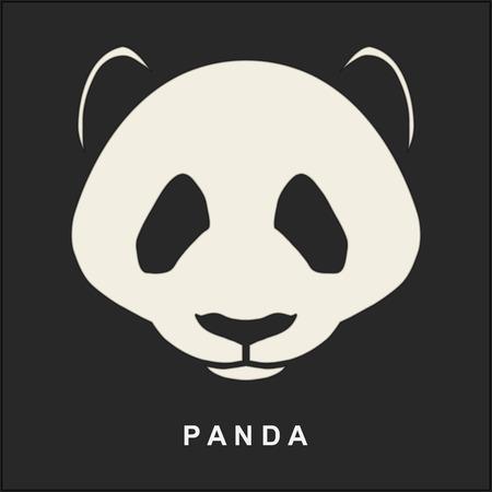 ベクトル画像の中国パンダ。かわいいクマの鼻。イラスト。