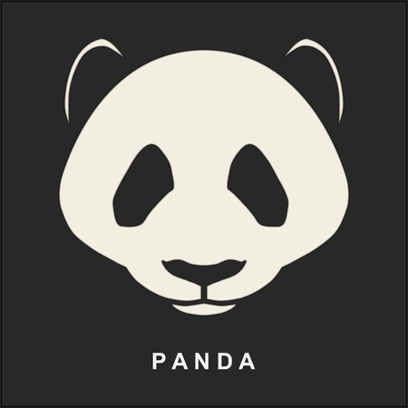 중국어 팬더 곰의 벡터 이미지입니다. 귀여운 곰의 주둥이. 삽화.