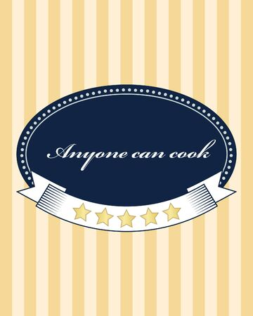 anyone: Inspirational vintage food card, poster. Motivation Vector text. Anyone can cook.