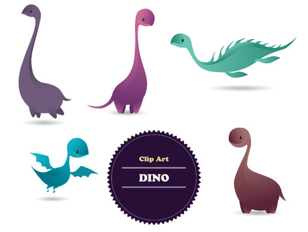 lewis: Cute funny lovely dino. Vector illustration. Background Illustration