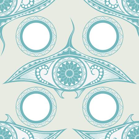 manta: Maori style tattoo seamless pattern for decoration.