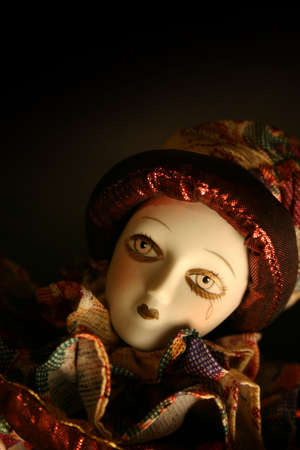 Doll with tear and room for copy photo