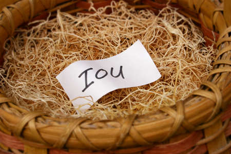 Borrowing from the nest egg, from retirement savings Banco de Imagens - 704296