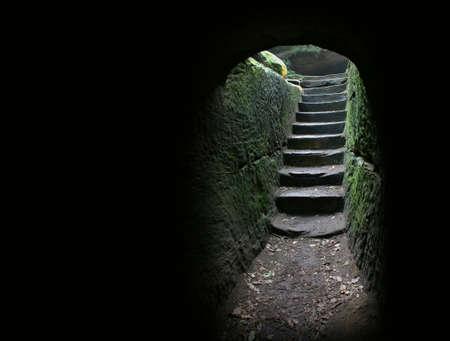 dentro fuera: Escaleras al final de una cueva ... m�s en mi cartera.