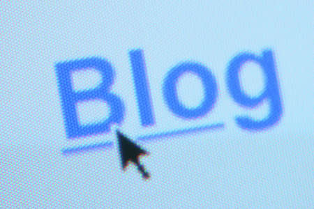 The word blog as a hyperlink Stok Fotoğraf