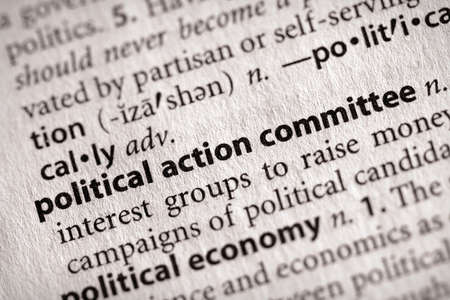 politic: Political Action Committee Stock Photo