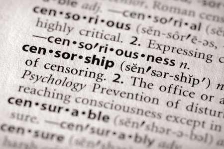 censor: Censorship Stock Photo