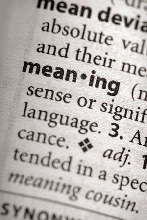 meaning: Meaning
