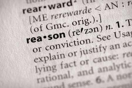 reason: Reason Stock Photo