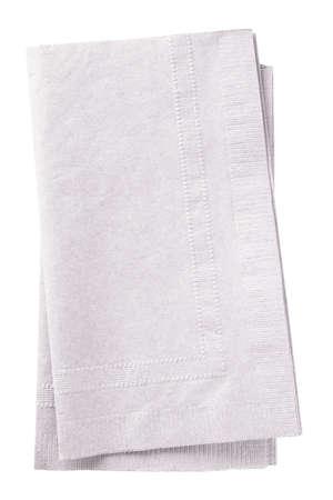 Stack of two white napkins.