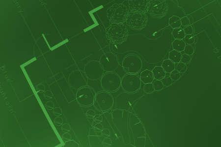 General blueprint shot for landscaping, gardening, yard work, etc.