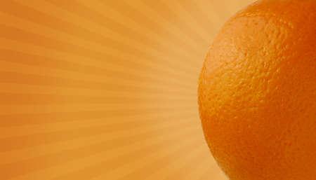 intense flavor: Fruit Burst Series - Orange Stock Photo