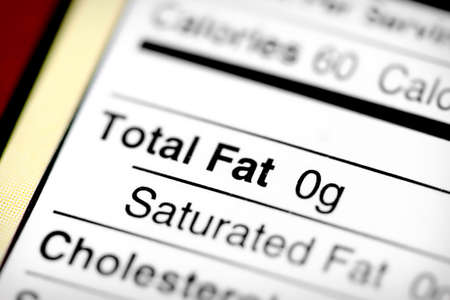 Nutritional label with focus on fats.