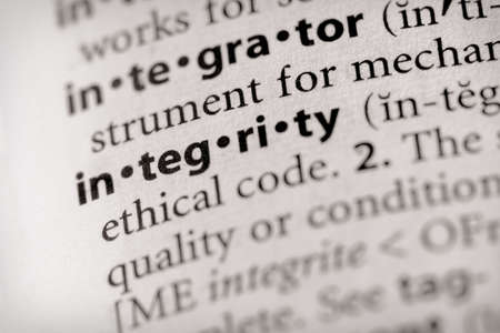virtue: Integrity Stock Photo