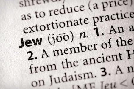 Selective focus on the word Jew Stok Fotoğraf