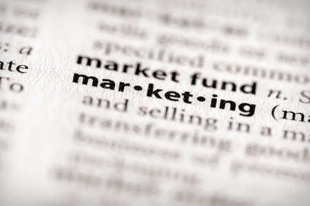 definici�n: Marketing Foto de archivo