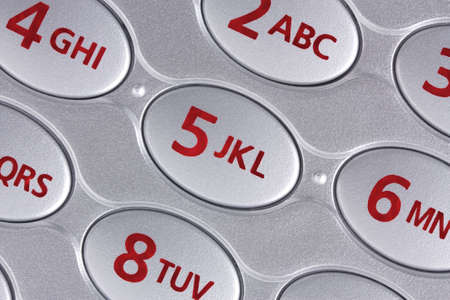 Extreme close-up of a cellmobile phones buttons and numbers Stok Fotoğraf