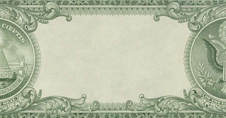 Money - U.S. dollar border with empty middle area Stock Photo