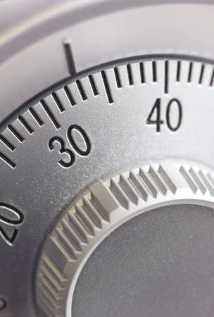 Close-up of a combination dial on a safe. Stock Photo