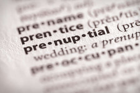 """Selective focus on the word """"prenuptial"""". Many more word photos in my portfolio. Imagens"""