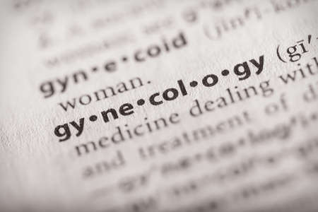 Selective focus on the word gynecology. Many more word photos in my portfolio.